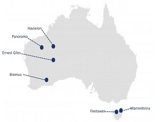 Project locations Aus